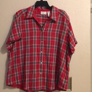 Alfred Dunner ladies blouse  size 18 color
